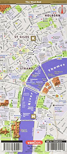 Street Map London West End.Streetsmart London Map By Vandam City Street Map Of London England Laminated Folding Pocket Size City Travel And Tube Map With All Museums