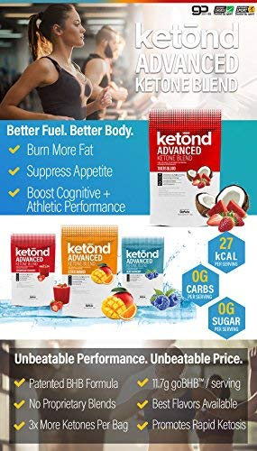 Ketond Advanced Ketone Supplement - 11.7g of goBHB per Serving (30 Servings) - #1 Rated BHB (Beta-HydroxyButyrate) Supplement for Weight Loss, Increased Energy, Focus & Fat Loss (Fruit Punch) by Ketond Nutrition (Image #4)
