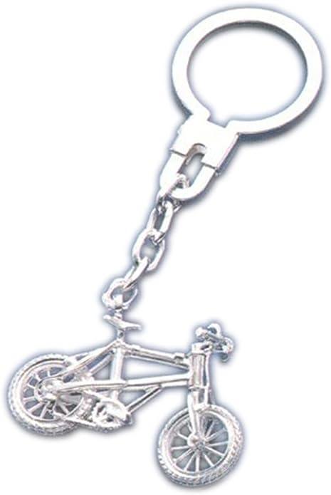 Llavero de plata de ley 925 mm con motivo bicicleta de montaña ...