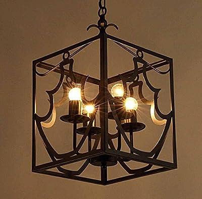 BBSLT-Country creative retro lamps, industrial light bar bar restaurant Café wrought-iron birdcage chandelier