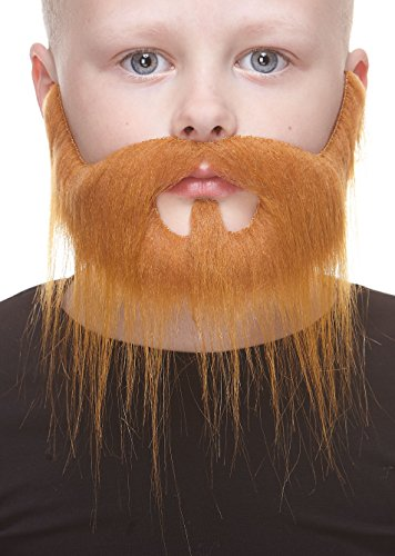 Small Nomad ginger fake beard and mustache, self (The Nomads Halloween)