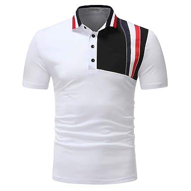 Polo De Manga Corta para Hombre Camiseta para De Corta Slim Fit ...
