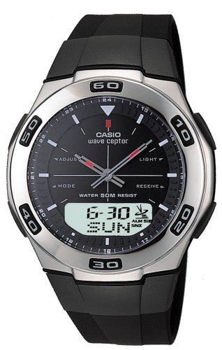 : Casio Men's WVA105HA-1AV Waveceptor Atomic Ana-Digi Resin Watch
