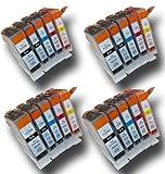 20 Chipped Compatible High-Capacity Canon PGI-5 & CLI-8 Ink Cartridges for Canon Pixma MP500 Printer