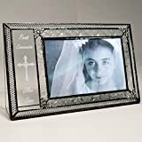 J Devlin Pic 393-46H EP581 Personalized First Communion Picture Frame Engraved Glass 4x6 Photo Frame Religious Keepsake Gift