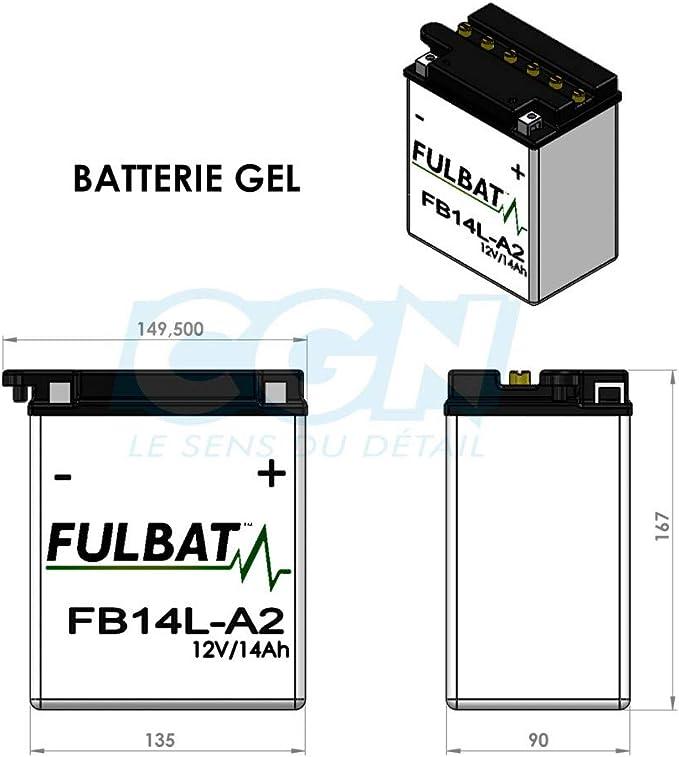 Fulbat Motorrad Batterie Gel Yb14l A2 12n14 3a 12v 14ah Auto