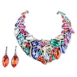 African Beads Crystal Necklace/Earring Sets