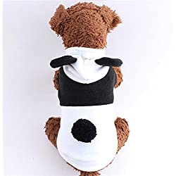 Youareking Panda Design Christmas Cat Dog Clothes Santa Dog Costumes Pet Apparel