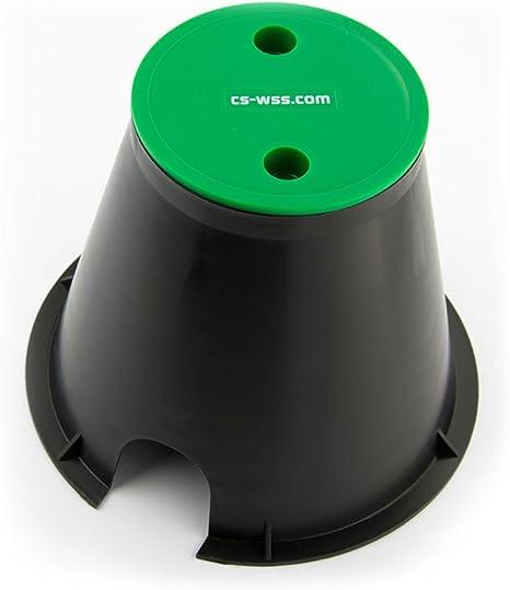 CS Bew/ässerungssysteme GmbH Ventilbox Verteilerkasten rund 170 mm f/ür Gartenelektronik und Wasserverteilung f/ür CS Perlschlauch