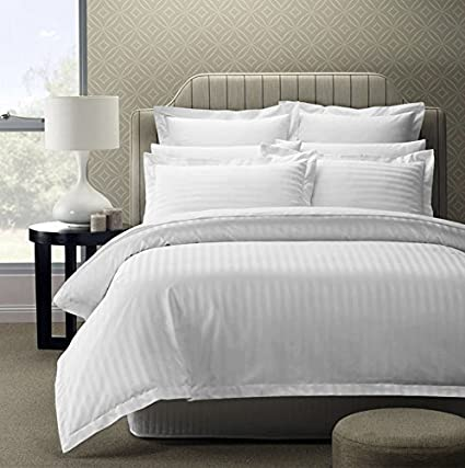 1fe61e558a Story@Home 300 TC 100% Cotton Sateen Double King Size Bedsheet with 2 Pillow