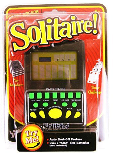 Price comparison product image Handheld SOLITAIRE Electronic Pocket Arcade Travel Card Game Toy NEW SEALED For Ages 5+