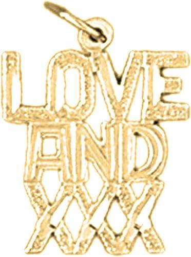 19 mm 14K White Gold Love Pendant Jewels Obsession Love Charm Pendant