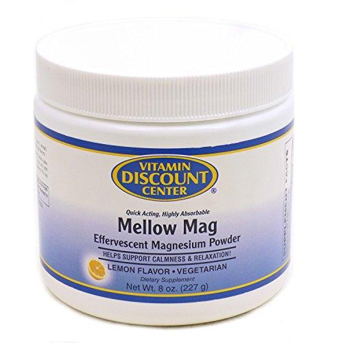 Vitamin Discount Center Mellow Mag Magnesium Powder 350 mg, Lemon, 8oz