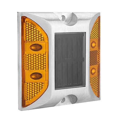 - VertiGo Road Stud Light LED Warning Light Orange Casting Aluminum Solar Powered Lamp Flashing Barricade Light for Misty Highways Pathway Road