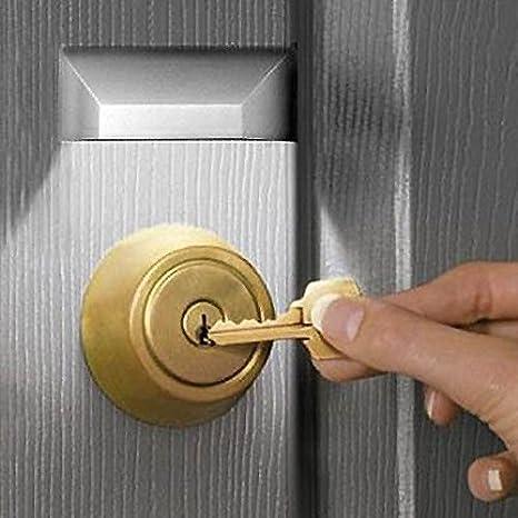 Auto LED luces lámpara de cerradura, cerradura, IR inalámbrico infrarrojo PIR sensor auto detector de movimiento hogar puerta Keyhole 4 LED light-1 Pack: ...