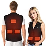 PINCOU Electric Heated Vest for Women and Men with USB Charging Insert, Body Warm Wrap Jacket Cloth Therapy Pad with 3 Temperature for Cold Outdoor Activities, Hunting Camping Hiking Skiing Fishing