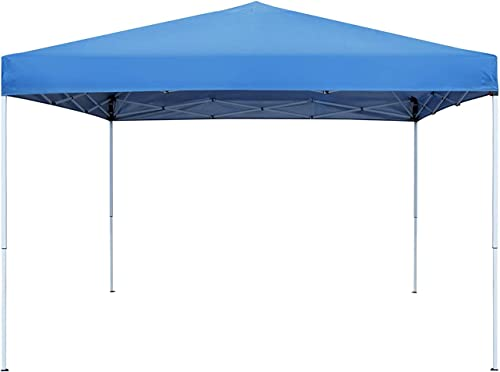 Smartxchoices Pop Up Canopy Tent – 10 x 10 FT Blue Foldable and Height Adjustable Outdoor Tent Sun Protection Canopy Beach Shelter with Wheeled Carry Bag Steel Frame Waterproof Oxford Fabric
