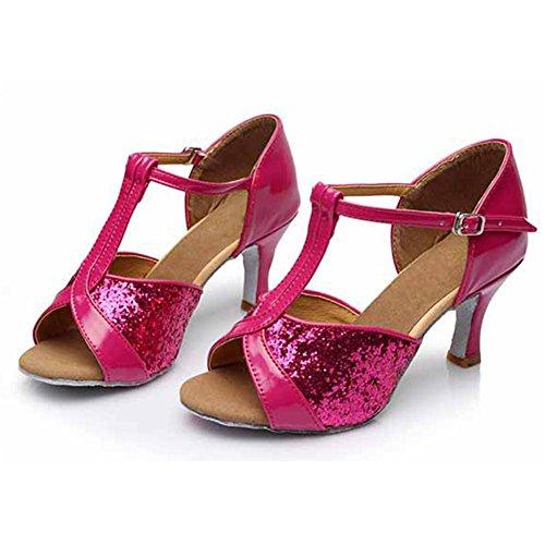 de Danse 7CM Femmes Chaussures Danse Latine Paillettes 259 pour Ballroom Chaussures HROYL rose de Modèle aAO0fxO
