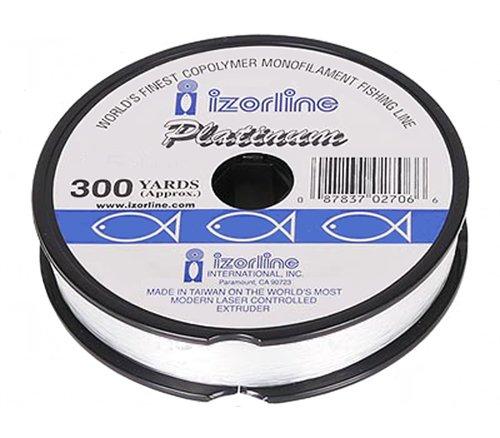 Izorline 27073 Platinum Co-Polymer Mono Line, 20 lb/300 yd, Clear