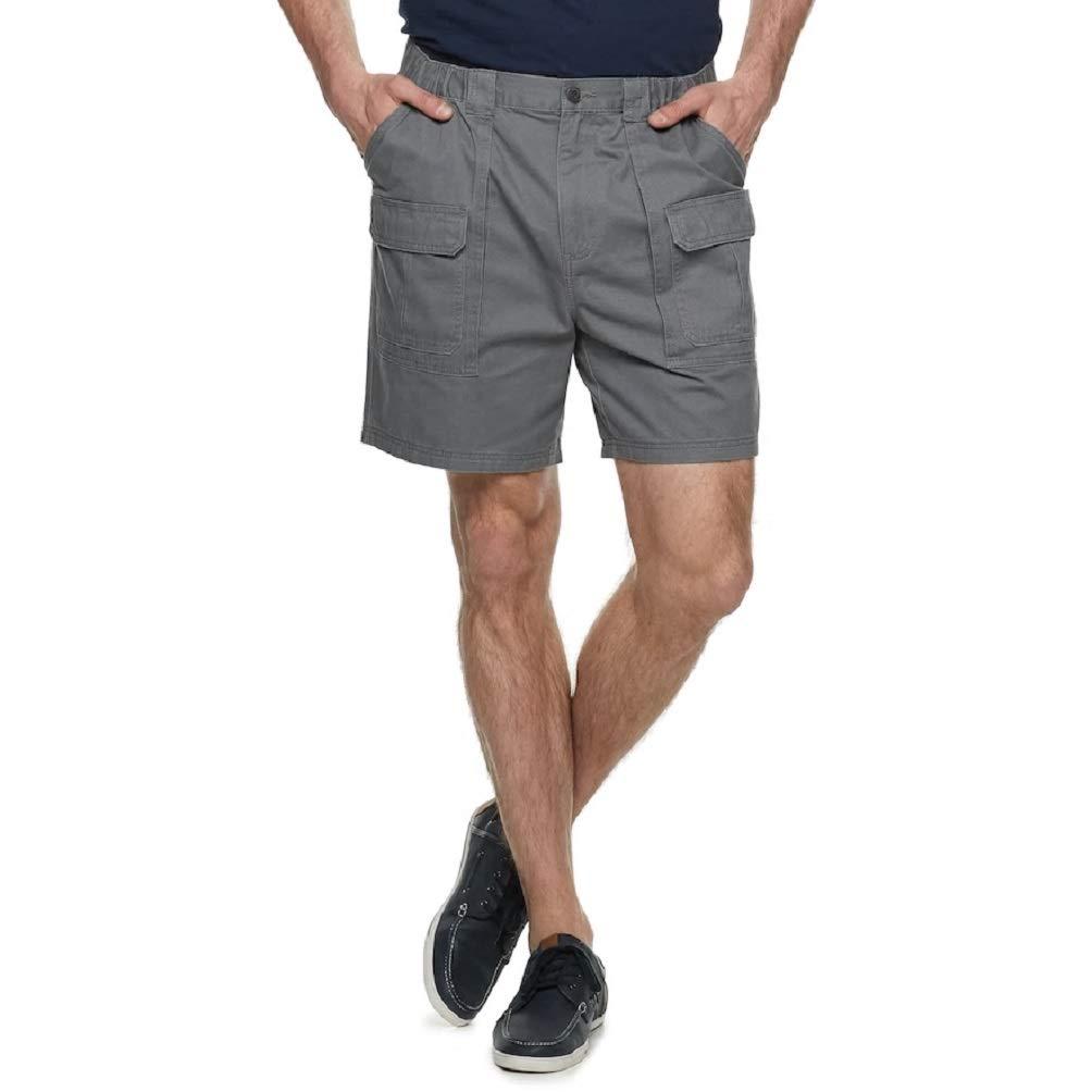 Croft /& Barrow Mens Big /& Tall Side Elastic Cargo Shorts