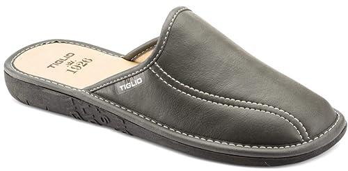 Pantofole Grigio da Ciabatte tiglio Amazon Uomo Invernali MOD 858 qSw6pdB6