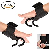 Solvang 2pcs Weight Lifting Hooks Grip Wrist Wraps Power Weight Lifting Training Gym Exercises Assist During Deadlifts, Rows, Pulldowns, and Shrugs