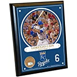 "MLB Kansas City Royals Lorenzo Cain Plaque with Game Used Dirt from Kauffman Stadium, 8"" x 10"", Navy"