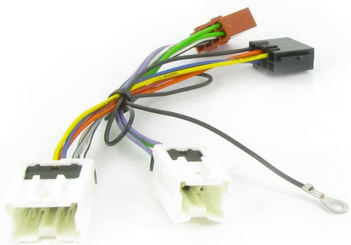 amazon.com: wiring lead harness adapter for nissan x-trail 2005- iso stereo plug  adaptor: car electronics  amazon.com