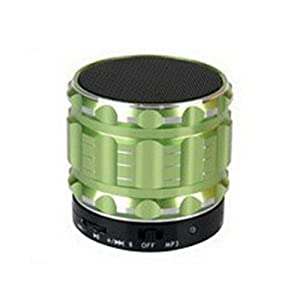 Aolyty Mini Portable Wireless Bluetooth 3.0 Speakers Metal Steel Stereo Speaker Hands Free with FM Radio Support TF Card for Smartphone/Laptop/Tablets/MP3 Player Green