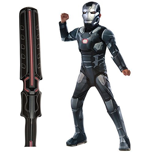 [Captain America: Civil War - War Machine Costume Bundle Set - Child Small] (Iron Man War Machine Costume Accessories)