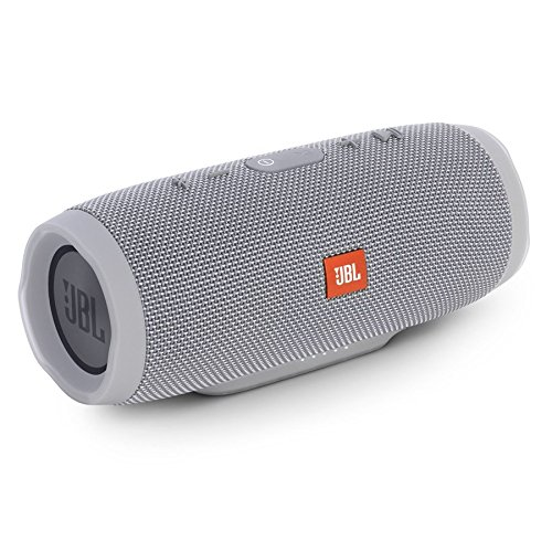 - JBL Charge 3 Waterproof Portable Bluetooth Speaker (Gray)