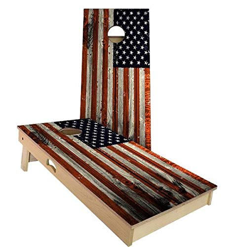 豪奢な Skip's Garage Bags) アメリカ国旗 A. アンティーク調コーンホールボードセット - サイズとアクセサリーをお選びください - 2x3 ボード2枚 バッグ8枚 B07N4BPNZL A. 2x3 Boards (Corn Filled Bags)|H.付属品 全てのアクセサリ A. 2x3 Boards (Corn Filled Bags), スタイルデザインラボ:542e09c4 --- staging.aidandore.com