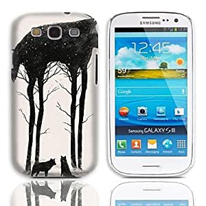 ZL Wolf Design Hard Case with 3-Pack Screen Protectors for Samsung Galaxy S3 I9300