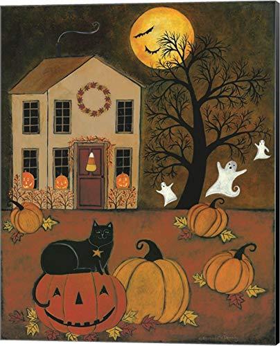 Halloween Night by Bernadette Deming Canvas Art Wall