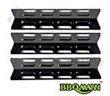 BBQMANN JC071(3-pack) Universal Porcelain Steel Heat Plate /Heat Shield for Select Gas Grill Models By Kenmore, Master Forge and Others(16 1/8