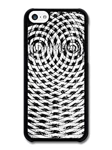 MMZ DIY PHONE CASEAbstract Circular Hypnotic Black And White Cool Style Pattern case for ipod touch 5