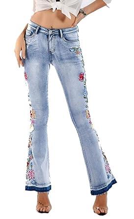 Pantalones Vaqueros de Seguridad para Mujer con Bordado de ...