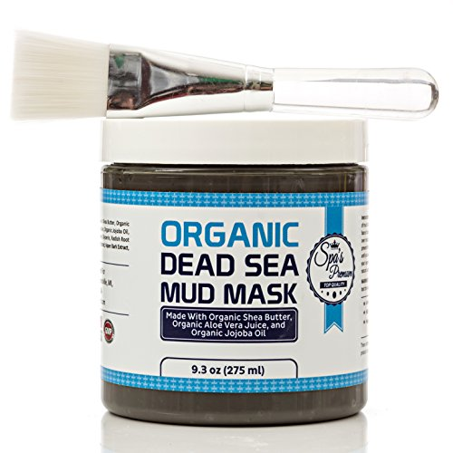 Acne Skin Clear Free (Dead Sea Mud Mask & Free Face Brush - HUGE Jar - Clears Acne - Anti-Aging - Exfoliate Skin - Moisturize - Aloe Vera Juice - Jojoba - Sunflower - Hickory Bark Extract - Calendula Oil - Shea Butter)
