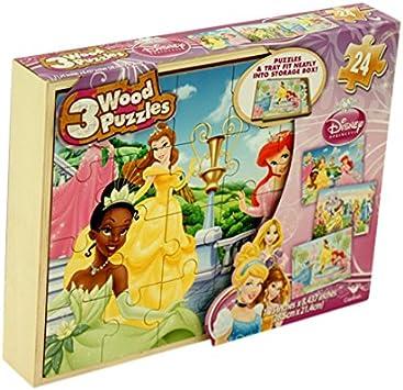 todofácil tiendas Pack 3 Puzzles de Madera Princesas Disney ...