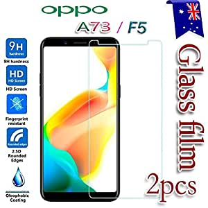 [2-Pack] For Oppo A73 / Oppo F5 Tempered Glass LCD Screen Protector Film Guard
