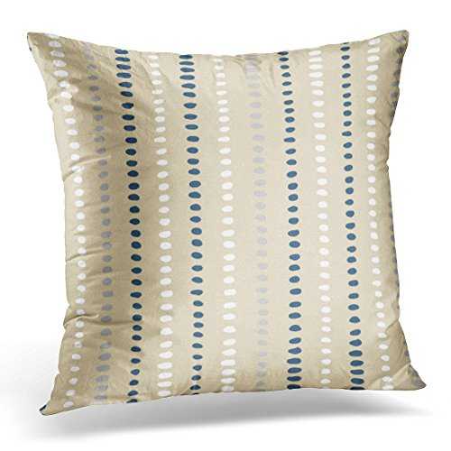 VANMI Throw Pillow Cover Gray Stripes Navy Blue White Beige Stripe Gray Decorative Pillow Case Home Decor Square 20x20 Inches - Stripe Gold Gray