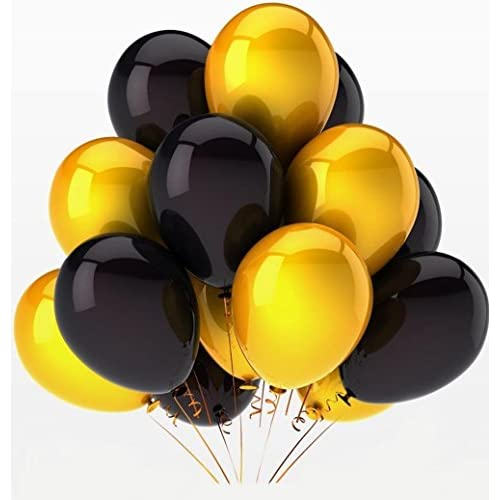 40th Birthday Decorations Set Gold And Black Happy Banner Number Balloons