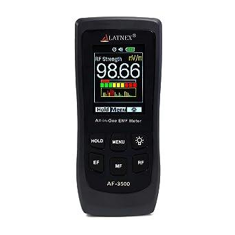 LATNEX AF-3500 EMF Meter RF Detector y lector con certificado de ...