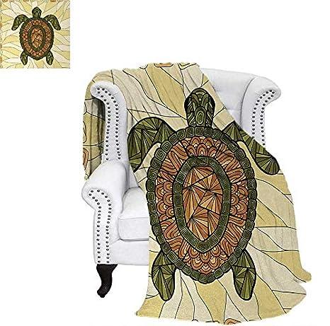 Amazon.com: Manta de franela acogedora con diseño de tortuga ...