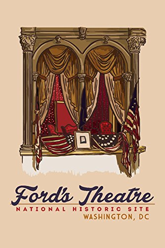 (Washington, DC - Balcony - Ford's Theatre NHS (16x24 SIGNED Print Master Giclee Print w/Certificate of Authenticity - Wall Decor Travel Poster))
