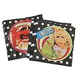 20 Stk. Serviette - Muppets - Kermit Miss Piggy / die Muppet Show - Animal Geburtstag Kinderparty Kindergeburtstag - Partydeko Puppenspiel - Mädchen Jungen Erwachsene