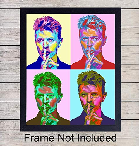 David Bowie Wall Art Print - Andy Warhol Pop Art - 8x10 Unframed Photo - Great Gift for Music Fans - Chic Home Decor