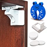 NOYALI Baby Proof Cabinets Lock and Drawers Magnetic Locks - Easy to Install, No Screws - Child Safety Locks Set of -10 Locks, 2 Keys, Installation Device+ Free 3M Tape + Door Stopper