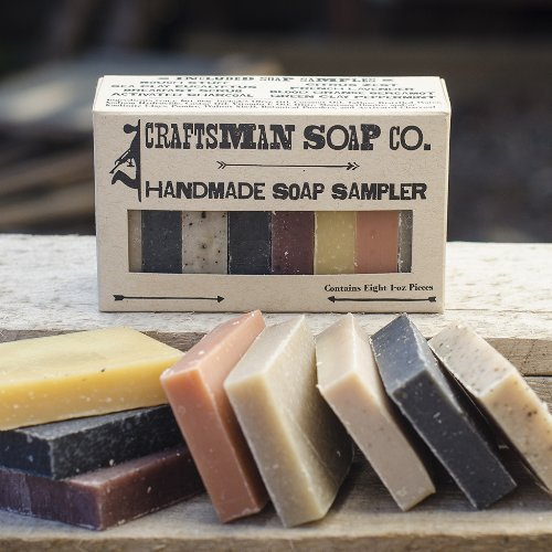 Artisan Soap - Craftsman Soap Co. Soap Sampler, 8-pieces All-natural Soap