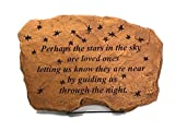Kay Berry Perhaps The Stars are Loved Ones, Comfort Stone Sympathy Gift 10×15 Sandstone with Stand For Sale